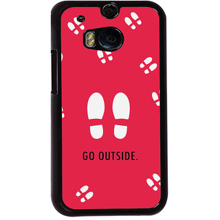 Ayaashii Go Outside Back Case Cover for HTC One M8::HTC M8