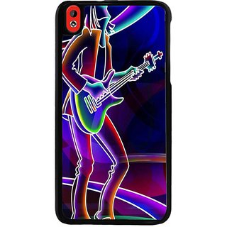 Ayaashii Rockstar Playing Guitar Back Case Cover for HTC Desire 816::HTC Desire 816 G
