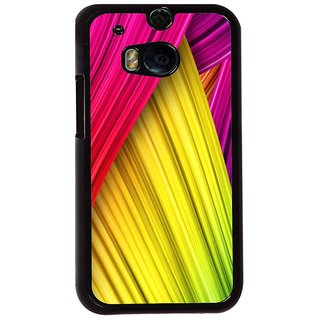 Ayaashii Colorful Stripes Back Case Cover for HTC One M8::HTC M8