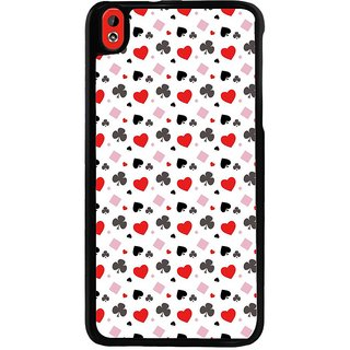 Ayaashii Play Cards Symbols Pattern Back Case Cover for HTC Desire 816::HTC Desire 816 G