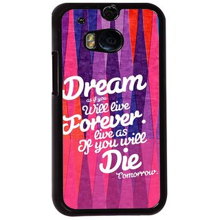 Ayaashii Dream As If You Will Live Back Case Cover for HTC One M8::HTC M8