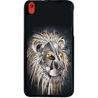 Ayaashii Metal Lion Back Case Cover for HTC Desire 816::HTC Desire 816 G