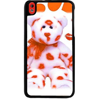 Ayaashii Teddy Bear With Kiss Back Case Cover for HTC Desire 816::HTC Desire 816 G