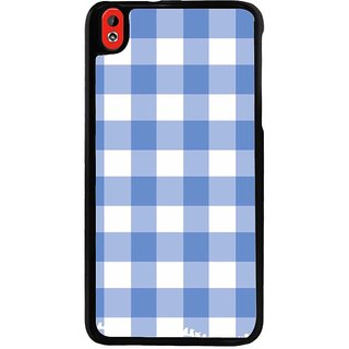 Ayaashii Blue Check Pattern Back Case Cover for HTC Desire 816::HTC Desire 816 G