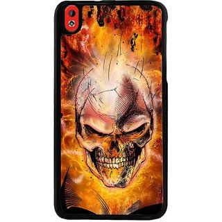 Ayaashii Burnig Skul Back Case Cover for HTC Desire 816::HTC Desire 816 G