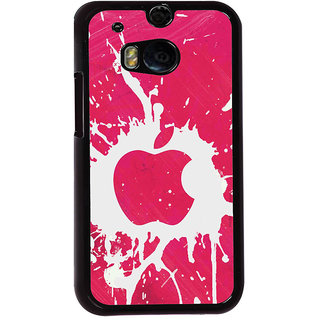 Ayaashii Pink Color Apple Logo Back Case Cover for HTC One M8::HTC M8