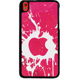 Ayaashii Pink Color Apple Logo Back Case Cover for HTC Desire 816::HTC Desire 816 G
