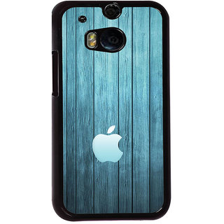 Ayaashii Blue Shaded Apple Logo Back Case Cover for HTC One M8::HTC M8