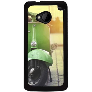 Ayaashii A Green Scooter Back Case Cover for HTC One M7::HTC M7