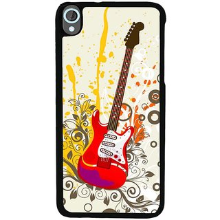 Ayaashii Colorful Guitar Back Case Cover for HTC Desire 820::HTC Desire 820Q::HTC Desire 820S