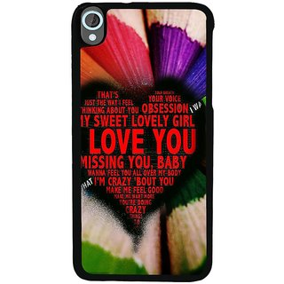 Ayaashii My Sweet Lovely Girl Back Case Cover for HTC Desire 820::HTC Desire 820Q::HTC Desire 820S