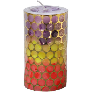 Round Chunk Candle Pillar