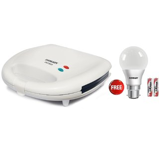 Eveready PST901 2 Slice Sandwich Maker with 7w led Bulb free