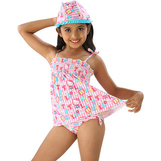 Adorable Three Pieces Swim-Suit Set For Girls