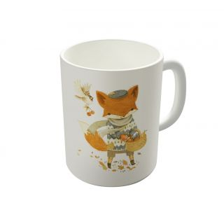 Dreambolic Fritz The Fruit Foraging Fox Coffee Mug-DBCM21429
