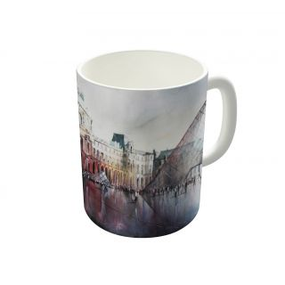 Dreambolic Le Louvre Paris Watercolor Coffee Mug-DBCM21731