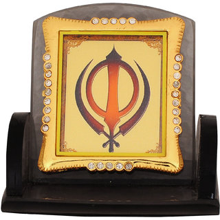 Leganza Khanda Car Dashboard Idol in Glass with Black base