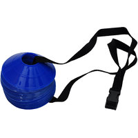 GSI Mini Saucer cones for Field agility training speed coordination Pack of 20 with Shoulder Strap