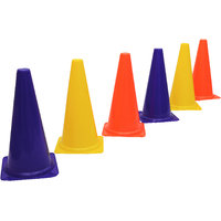 GSI Red Marker Cones in 6 inch height for Soccer Cricket Track and Field Sports Pack of 6