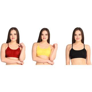 Dealseven Multicolor Plain Sports Bra