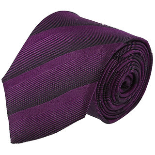 Louis Philippe Trendy Black & Purple Tie