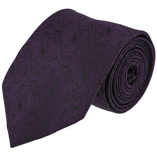 Louis Philippe Stylish Black & Purple Tie