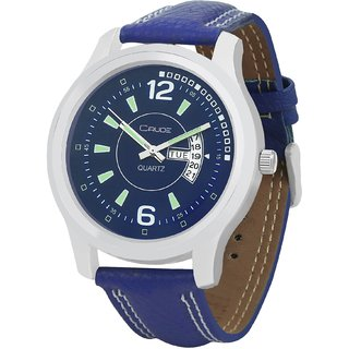 Crude Smart Day and Date Analog Watch-rg441 With Synthetic Leather Strap