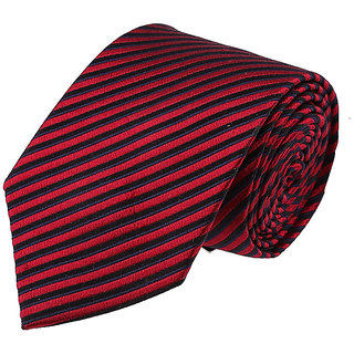 Louis Philippe Red& Black Tie
