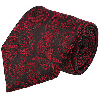 Louis Philippe Stylish Black & Red Tie