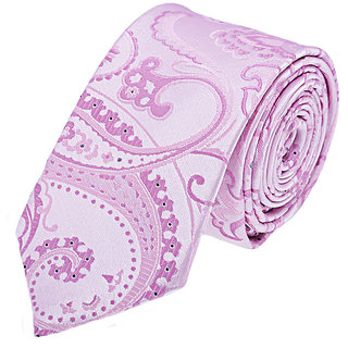 Tossido Stylish Pink Slim Neck-Tie