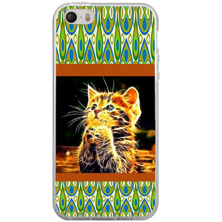 ifasho Cat with big eyes animated designed Back Case Cover for Apple Iphone 4