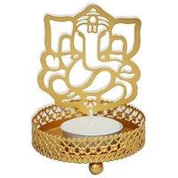Ganesh Ji Shadow Tea Light Candle Holder For Home Dcor