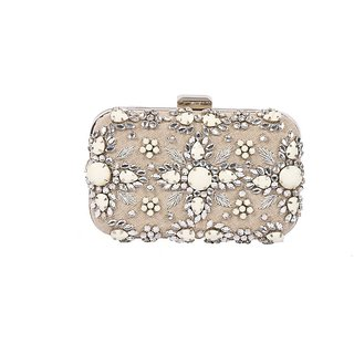 Diwaah Multicolor Self Design Party Clutch