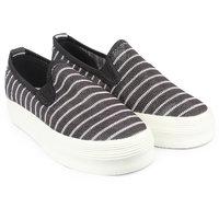 Do Bhai Women Black Slip On Sneakers - 99549612