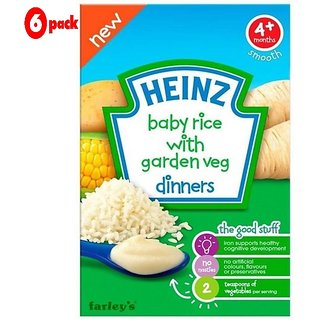 Heinz Baby Rice With Garden Veg Dinners (4m+) - 125G (Pack of 6)