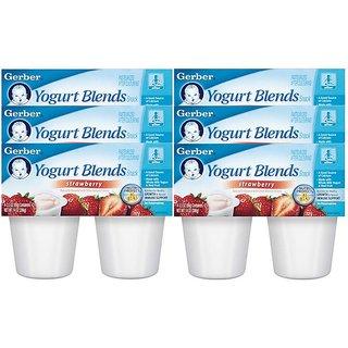 Gerber Yogurt Blends Snack 396G (14oz) - Strawberry (Pack of 6)