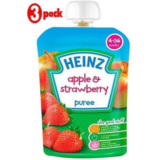 Heinz Apple & Strawberry Puree (4-36m) - 100G (Pack of 3)