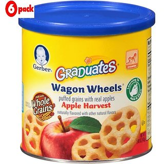 Gerber Graduates Wagon Wheels 42G - Apple Harvest (Pack of 6)