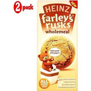 Heinz Farleys Rusks 150G (4-6m+) - Whloemeal (Pack of 2)