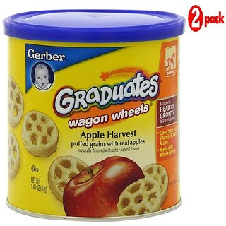 Gerber Graduates Wagon Wheels 42G - Apple Harvest (Pack of 2)