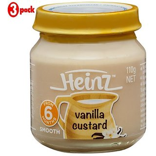 Heinz Vanilla Custard (6m+) - 110G (Pack of 3)