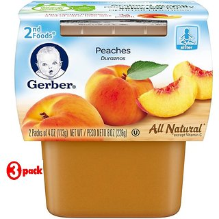 Gerber 2nd Foods 2Pk 226G (8oz) - Peaches (Pack of 3)
