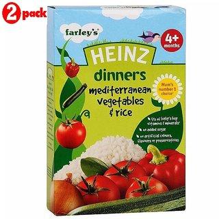 Heinz Mediterranean Vegetables & Rice (4m+) - 125G (Pack of 2)