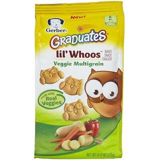 Gerber Graduates Lil' Whoos Cracker 175G (6.17oz) - Veggie Multigrain