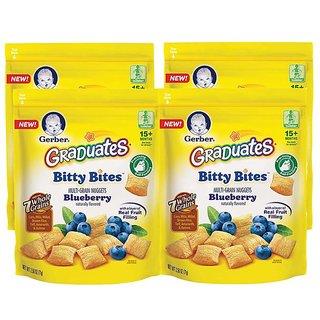 Gerber Graduates Bitty Bites Multi-Grain Nuggets 71G (2.5oz) - Blueberry (Pack of 4)