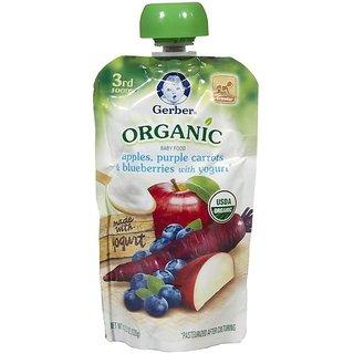 Gerber 3rd Foods 120G (4.23oz) - Organic Apples Purple Carrots & BB Yogurt