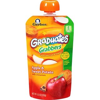 Gerber Graduates GraBBers 120G (4.23oz) - Apple & Sweet Potato