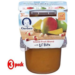 Gerber 3rd Foods 2Pk 284G (10oz) - Island Fruit Blend (Pack of 3)