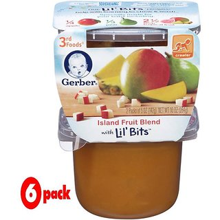 Gerber 3rd Foods 2Pk 284G (10oz) - Island Fruit Blend (Pack of 6)