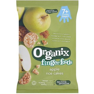 Organix Finger Foods (7m+) 40G - Apple Rice Cakes With Cinnamon